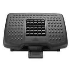 Mind Reader Adjustable Height Footrest with Rollers for Massage, 18 x 14 x 4.25, Black