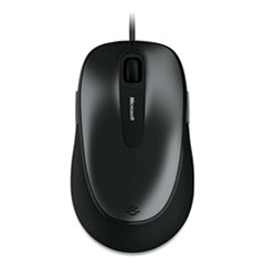 Microsoft® Comfort 4500 Wired Optical Mouse, USB, Left/Right Hand Use, Loch Ness Gray