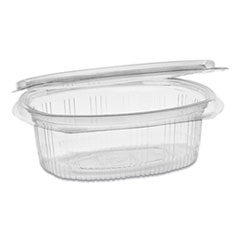 Pactiv EarthChoice PET Hinged Lid Deli Container, 12 oz, 4.92 x 5.87 x 1.89, Clear, 200/Carton