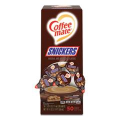 Coffee-mate® Liquid Coffee Creamer, Snickers, 0.38 oz Mini Cups, 50 Cups/Box