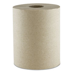 "Morcon Paper Hardwound Roll Towels, Kraft, 1-Ply, 600 ft, 7.8"" Dia, 12 Rolls/Carton"