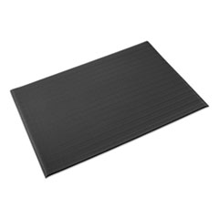 Crown Ribbed Vinyl Anti-Fatigue Mat, 24 x 36, Black