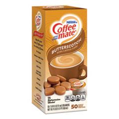 Coffee-mate® Liquid Coffee Creamer, Butterscotch, 0.38 oz Mini Cups, 50 Cups/Box