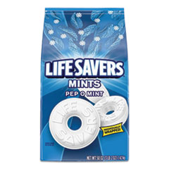 LifeSavers® Hard Candy Mints, Pep-O-Mint, 50 oz Bag