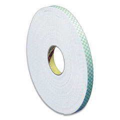 """3M™ Double Coated Urethane Foam Tape, 0.38"""" x 36 yds, White"""