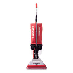 "Sanitaire® TRADITION Upright Vacuum with Dust Cup, 7 Amp, 12"" Path, Red/Steel"