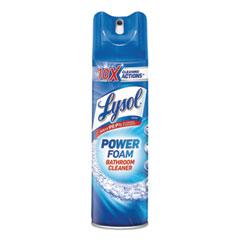 LYSOL® Brand Power Foam Bathroom Cleaner, 24oz Aerosol, 12/Carton