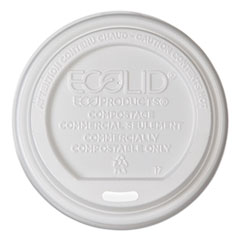 Eco-Products® EcoLid Renewable/Compostable Hot Cup Lid, PLA, Fits 10-20 oz Hot Cups, 50/Pack, 16 Packs/Carton