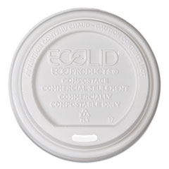 Eco-Products® EcoLid Renewable/Compostable Hot Cup Lids, PLA Fits 8 oz Hot Cups, 50/Packs, 16 Packs/Carton