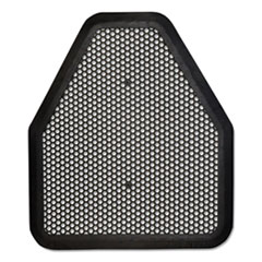 TOLCO® Urinal Mat, 20.75 x 18.5, Black, 6/Carton
