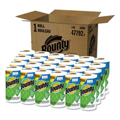 Bounty® Select-a-Size Kitchen Roll Paper Towels, 2-Ply, White, 5.9 x 11, 83 Sheets/Roll, 24 Rolls/Carton