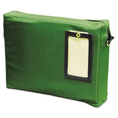 MMF Industries™ Expandable Dark Green Transit Sack, 14w x 11h x 3d