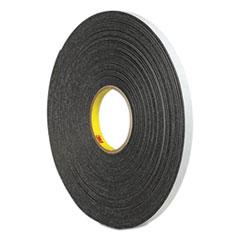 """3M™ 4466 Double-Coated Foam Tape, 1"""" Core, 0.5"""" x 5 yds, Black"""