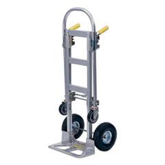 Wesco® Spartan 2-in-1 Convertible Hand Truck, Hand: 500 lb Capacity, Platform: 1,000 lb Capacity, 18 x 15 x 61, Aluminum