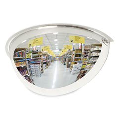 "See All® Half-Dome Convex Security Mirror, 18"" Diameter"