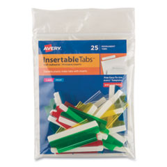 Avery® Insertable Index Tabs with Printable Inserts