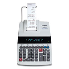 Canon® MP27DII 12-Digit Desktop Printing Calculator, Black/Red Print, 4.8 Lines/Sec