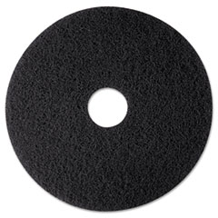 "3M™ High Productivity Floor Pad 7300, 12"" Diameter, Black, 5/Carton"