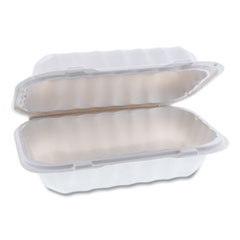 Pactiv EarthChoice SmartLock Microwavable Hinged Lid Containers, 9 x 6 x 3, White, 270/Carton