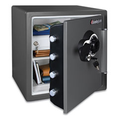 Sentry® Safe Fire/Waterproof 1.23 Cu Ft Combination with Key Safe, 16.3 x 19.3 x 17.8, Black