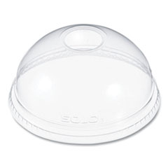 Dart® Ultra Clear Dome Cold Cup Lids f/16-24 oz Cups, PET, 100/Pack