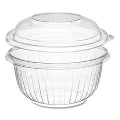 Dart® PresentaBowls Bowl/Lid Combo-Paks, Dome Lid, 16 oz, Clear, 63/Pack, 4 Packs/Carton