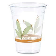 Dart® Bare Eco-Forward RPET Cold Cups, 16-18 oz, Clear, 50/Pack, 1000/Carton