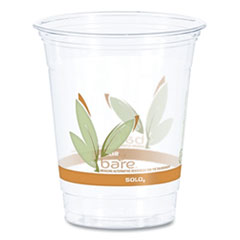 Dart® Bare Eco-Forward RPET Cold Cups, 12-14 oz, Clear, 50/Pack, 1000/Carton