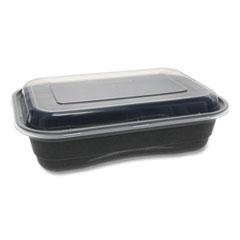 Pactiv EarthChoice Versa2Go Microwaveable Containers, 36 oz, 8.4 x 5.6 x 2, Black/Clear, 150/Carton