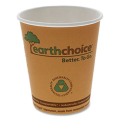 Pactiv EarthChoice Hot Cups, 8 oz, Orange, 1,000/Carton