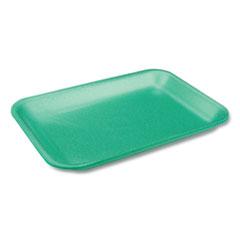 Pactiv Supermarket Tray, #2 1-Compartment, Produce Tray, 8.2 x 5.7 x 0.91, Green, 500/Carton