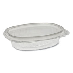 Pactiv EarthChoice PET Hinged Lid Deli Container, 8 oz, 4.92 x 5.87 x 1.32, Clear, 200/Carton