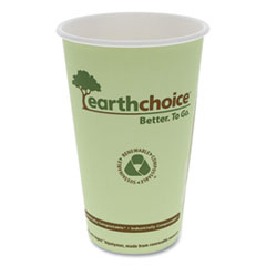 Pactiv EarthChoice Hot Cups, 16 oz, Green, 1,000/Carton