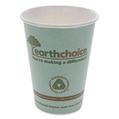 Pactiv EarthChoice Hot Cups, 12 oz, Teal, 1,000/Carton