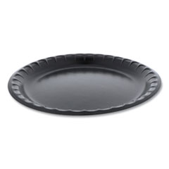 "Laminated Foam Dinnerware, Plate, 10.25"" dia, Black, 540/Carton"
