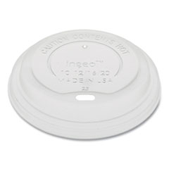Pactiv EarthChoice Hot Cup Lid, Fits 12 oz to 20 oz Hot Cups, Clear, 1,000/Carton