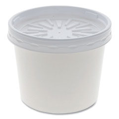 Pactiv Paper Round Food Container and Lid Combo