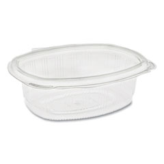 Pactiv EarthChoice PET Hinged Lid Deli Container, 24 oz, 7.38 x 5.88 x 2.38, Clear, 280/Carton