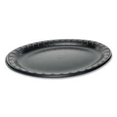 Pactiv Laminated Foam Dinnerware, Platter, Oval, 11.5 x 8.5, Black, 500/Carton