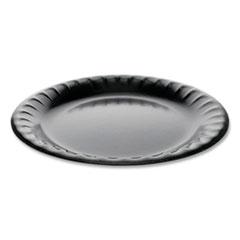 "Laminated Foam Dinnerware, Plate, 9"" dia, Black, 500/Carton"