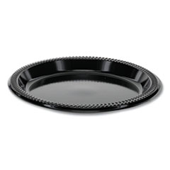 "Pactiv Prairieware OPS Dinnerware, Plate, 8.88"" Diameter, Black, 400/Carton"