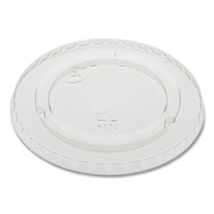 """Pactiv EarthChoice Cold Cup Lids with No Straw Hole, Flat Lid, Fits 9 oz to 20 oz """"A"""" Cups, Clear 1,020/Carton"""