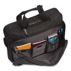 """Solo Pro Laptop Briefcase, New York The City Collection, 15.6"""", 16"""" x 4.25"""" x 12.5"""", Black"""