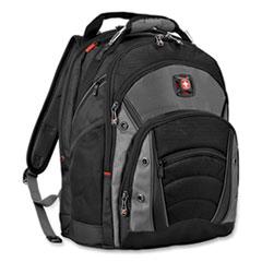 "Wenger® Synergy Laptop Backpack, 15.6"", 11.8"" x 14.2"" x 18.9"", Black/Gray"