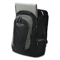 """Targus® Trek Laptop Backpack, 16"""", 13"""" x 7.5"""" x 18.79"""", Black/Gray"""