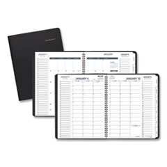AT-A-GLANCE® Triple View Weekly/Monthly Appointment Book, 11 x 8.25, Black, 2021