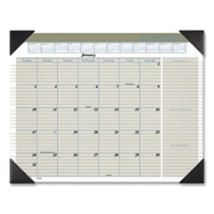 AT-A-GLANCE® Executive Monthly Desk Pad Calendar, 22 x 17, White, 2022