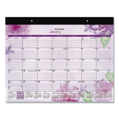 AT-A-GLANCE® Beautiful Day Desk Pad, 21.75 x 17, Assorted, 2022