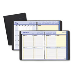 AT-A-GLANCE® QuickNotes Weekly/Monthly Planner, 10 x 8, Black, 2020-2021