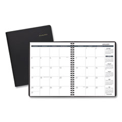 Monthly Planner, 8 3/4 x 6 7/8, Black, 2020